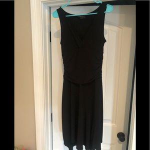 Like new black BCBG uneven hem dress